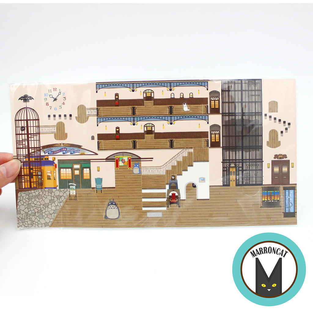 Ghibli Museum Pop-up Postcard