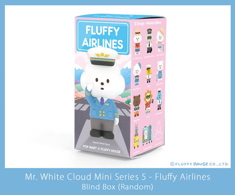 Mr. White Cloud Mini Series 5 Fluffy Airlines Edition