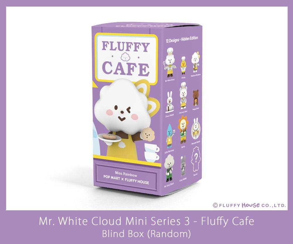 Mr. White Cloud Mini Series 3 Fluffy Cafe Edition