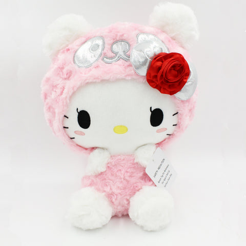 "Pink Panda Hello Kitty 13"" Plush"