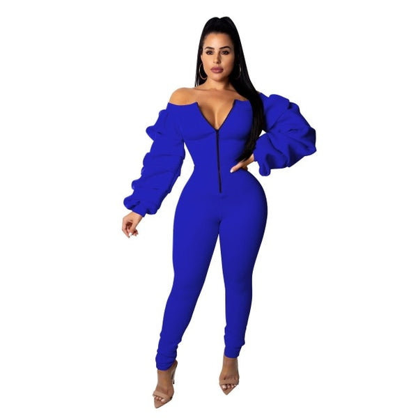 Casual Zipper Jumpsuit - On-Point Clothing!
