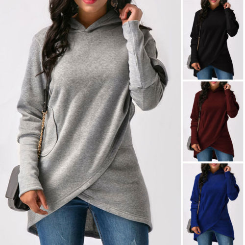 Women Long Sleeve Solid Pullover Hoodies - On-Point Clothing!