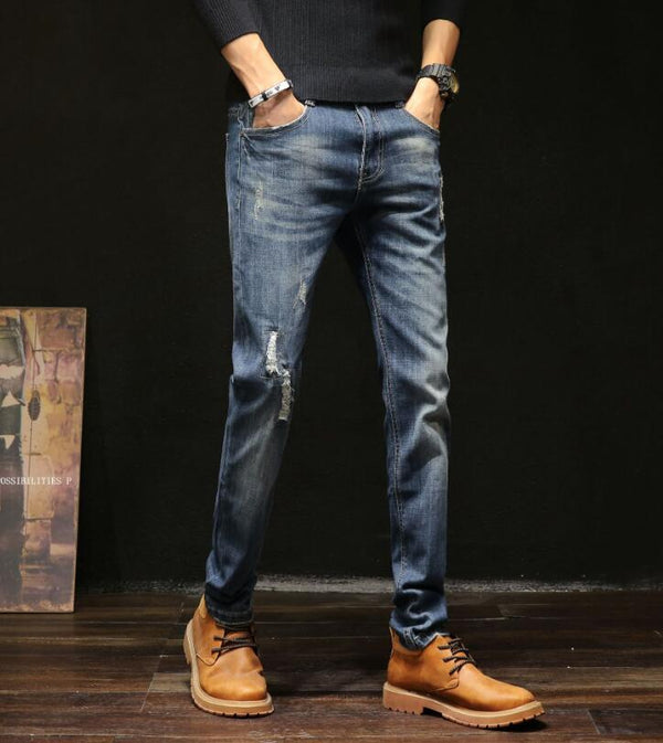 Casual Slim Stretch Jeans Classic For Men - On-Point Clothing!