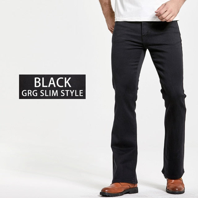 Slightly Flared Slim Fit Blue Black jeans - On-Point Clothing!