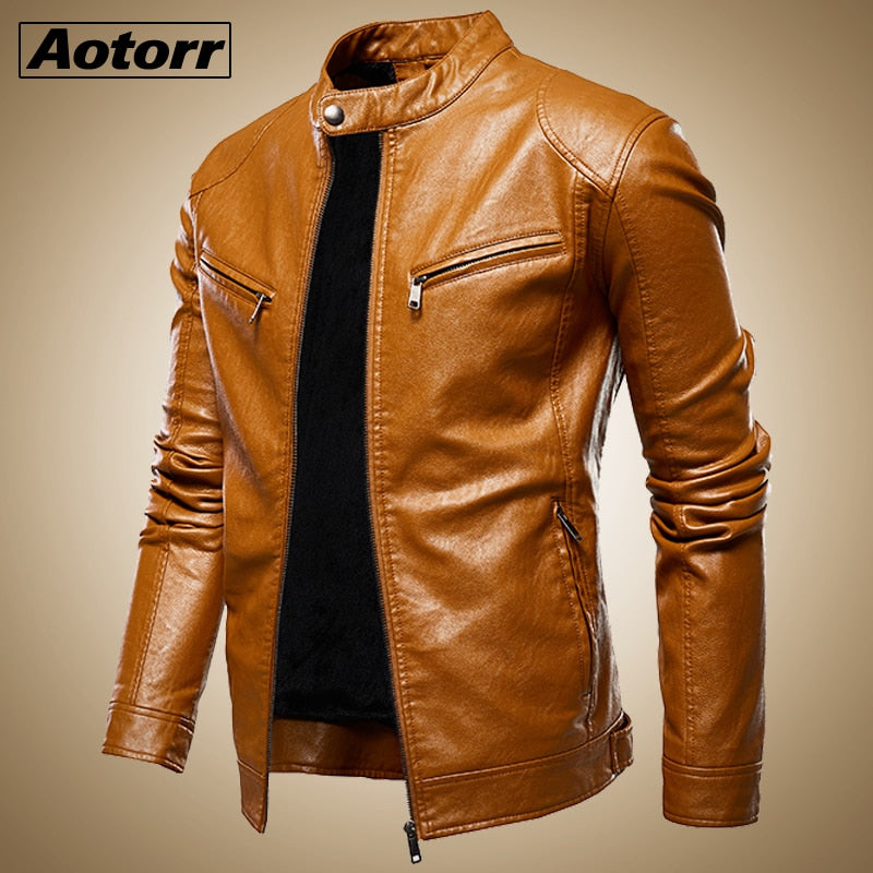 New Slim Retro Winter Leather Jackets - On-Point Clothing!
