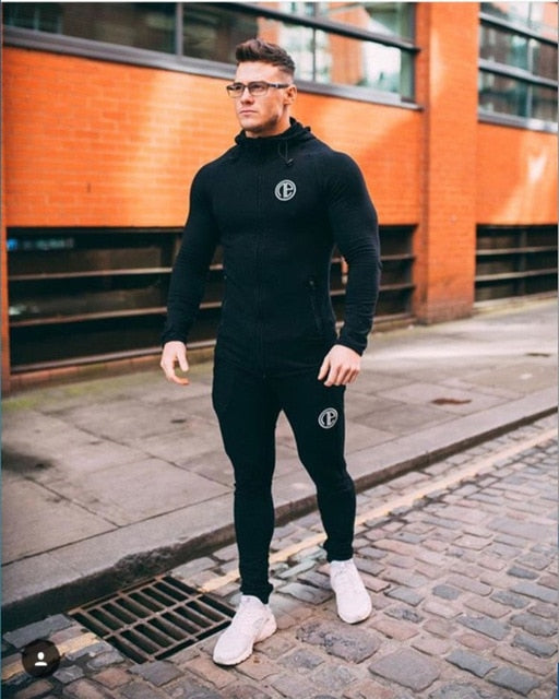 Sportswear Gym Fitness Tracksuit Male Casual Joggers - On-Point Clothing!