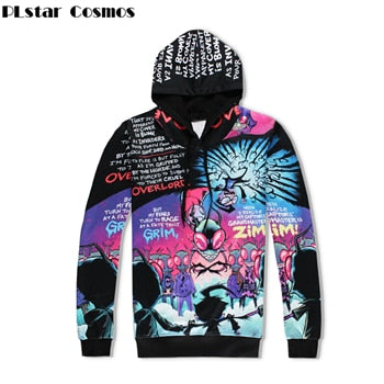 Men Harajuku Funny Alien 3D Print Hip Hop Track Suits - On-Point Clothing!