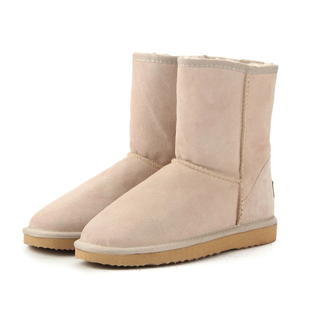 High Quality Genuine Leather snow boots for women - On-Point Clothing!