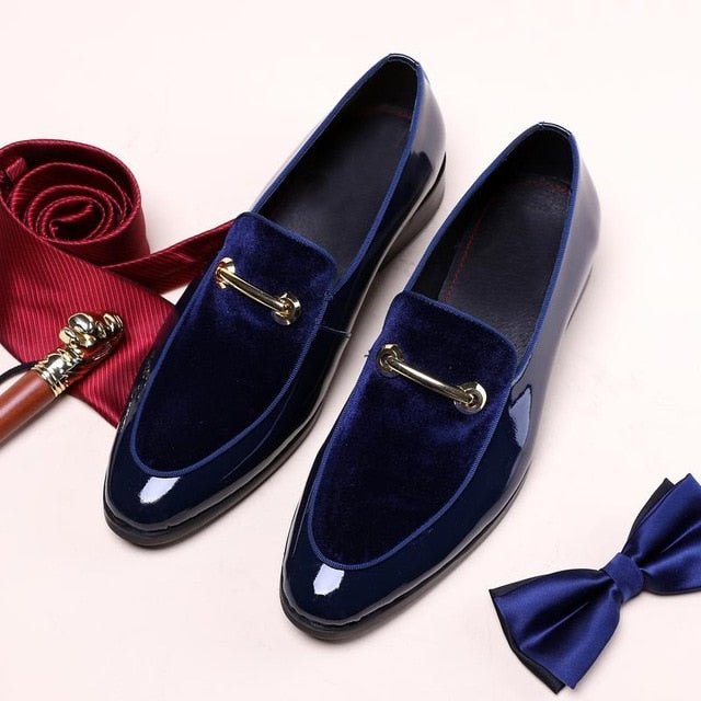 Patent Leather Luxury Fashion Groom Wedding Shoes - On-Point Clothing!