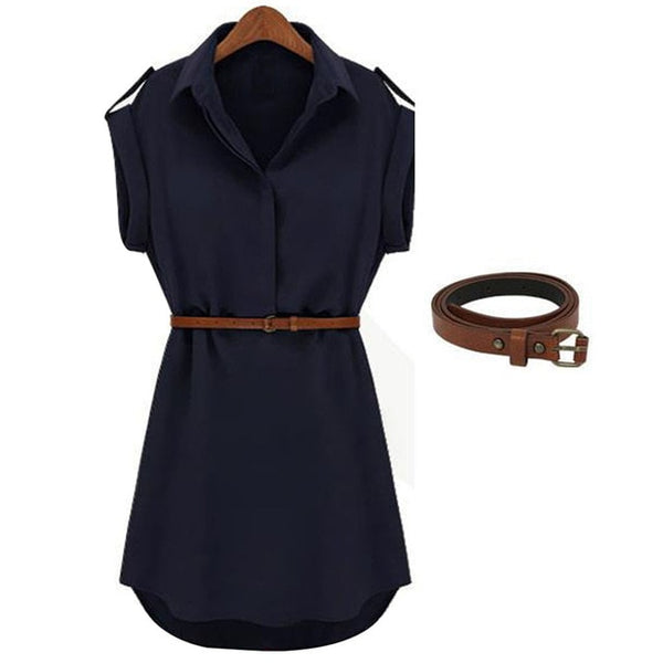 Women Casual Shirt Dress - On-Point Clothing!