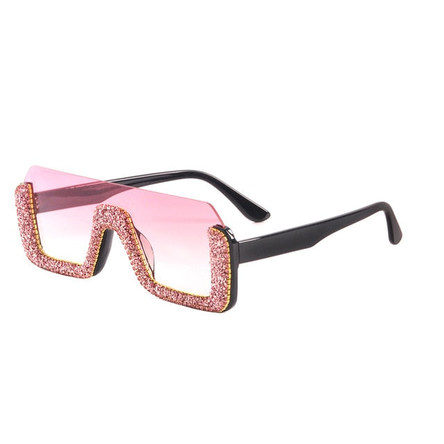 Semi-Rimless Square Sunglasses for Women - On-Point Clothing!