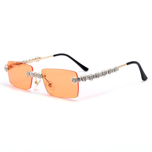 Rimless Diamond Sunglasses for Women - On-Point Clothing!