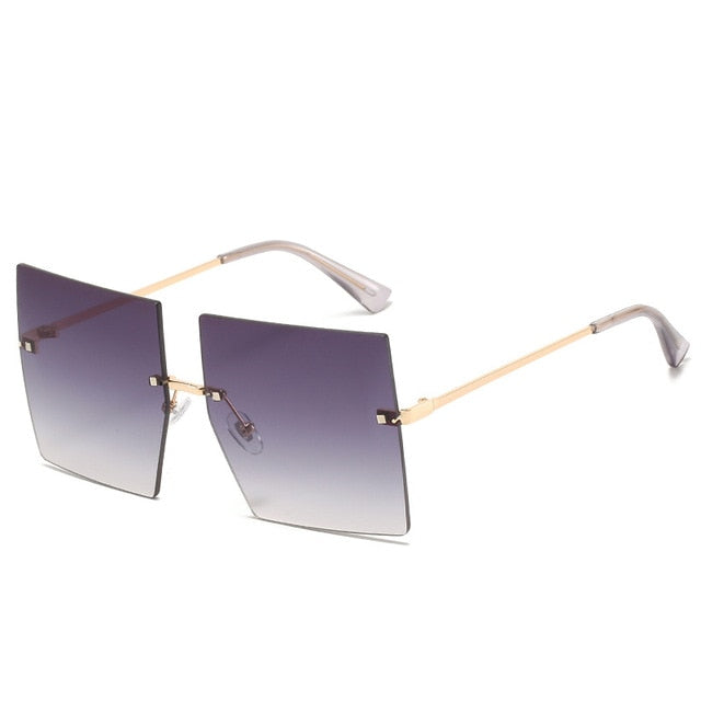 Rimless Square Sunglasses for Women - On-Point Clothing!