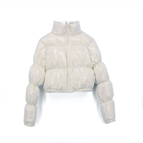 Women Cropped Parka Bubble Coat Winter Jacket - On-Point Clothing!