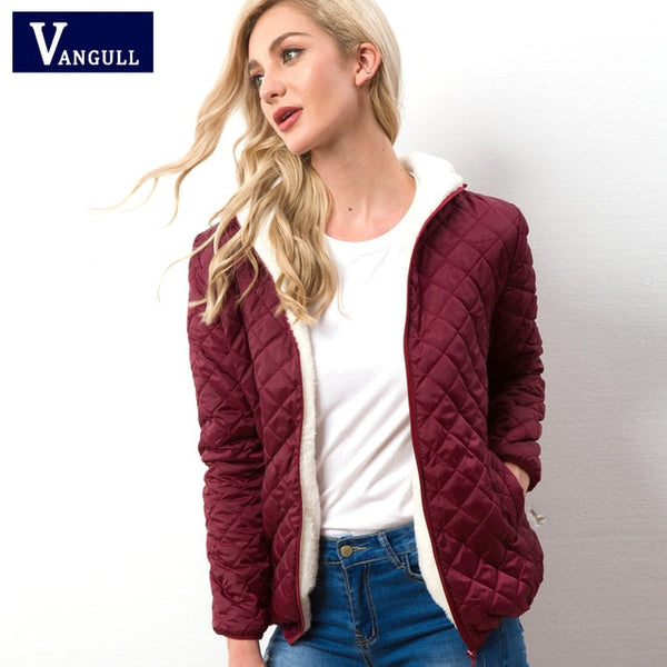 Women Warm Velvet Lamb Parka Coat - On-Point Clothing!