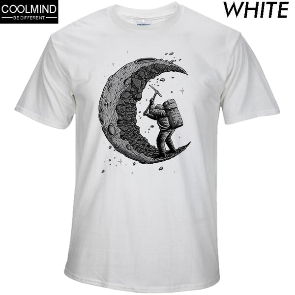100% cotton digging the moon print T-shirt - On-Point Clothing!