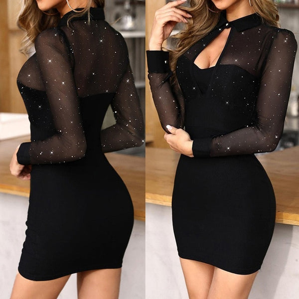 V-Neck Long Sleeve women dress - On-Point Clothing!