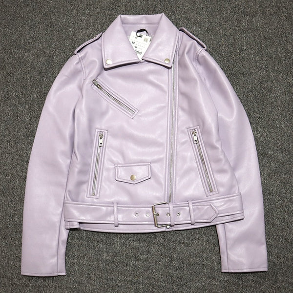 Ladies Faux Leather Jacket - On-Point Clothing!
