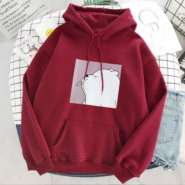 Hoodies oversized print Kangaroo Pocket Sweatshirts Hooded Harajuku winter Casual Vintage Korean Pullovers Women sweatshirts - On-Point Clothing!