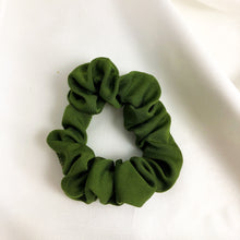 Load image into Gallery viewer, Skinny Olive Bamboo Silk Scrunchie