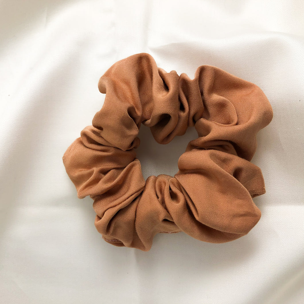 Dusty Pink Bamboo Silk Scrunchie