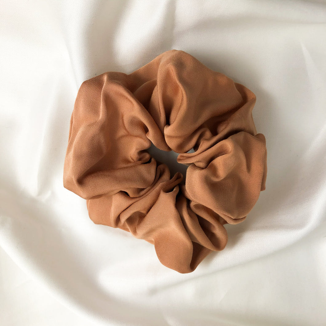 Large Dusty Pink Bamboo Silk Scrunchie