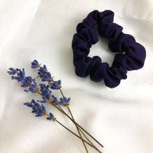 Load image into Gallery viewer, Skinny Damson Bamboo Silk Scrunchie