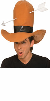 Cowboy hat with arrow