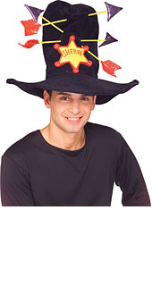 Cowboy Sheriff Hat with Arrows