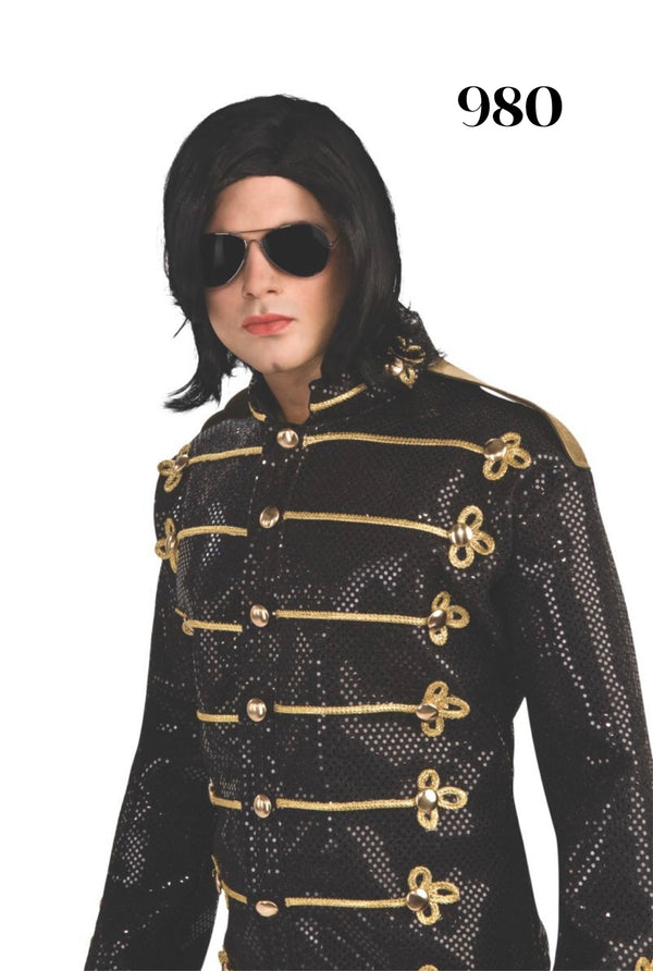 Michael Jackson Wig and Glasses