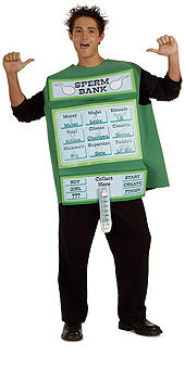 Comical Sperm Bank Costume