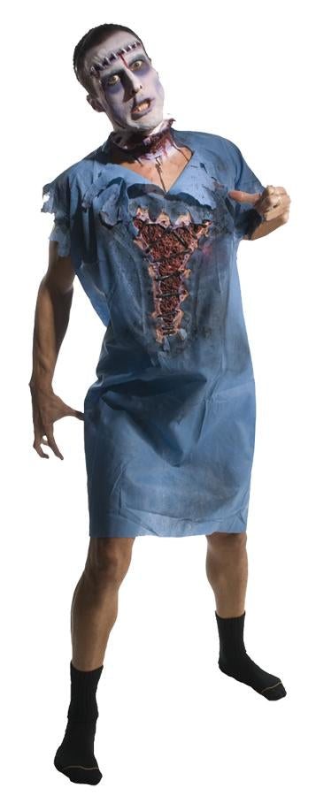 Zombie Patient Gown  with molded wound.