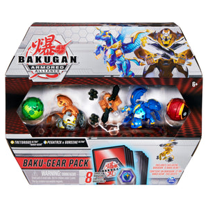 Bakugan Baku-Gear 4-Pack Tretorous Ultra with Baku-Gear and Fused Pegatrix x Goreene Ultra