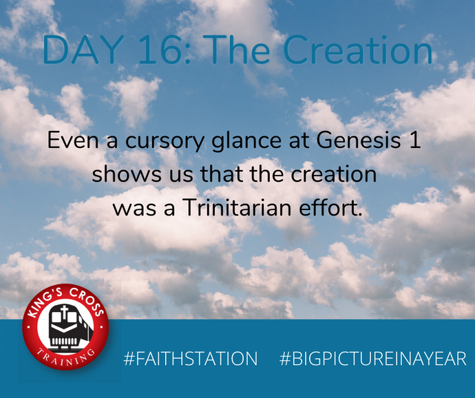 DAY SIXTEEN - BIG PICTURE IN A YEAR - THE CREATION