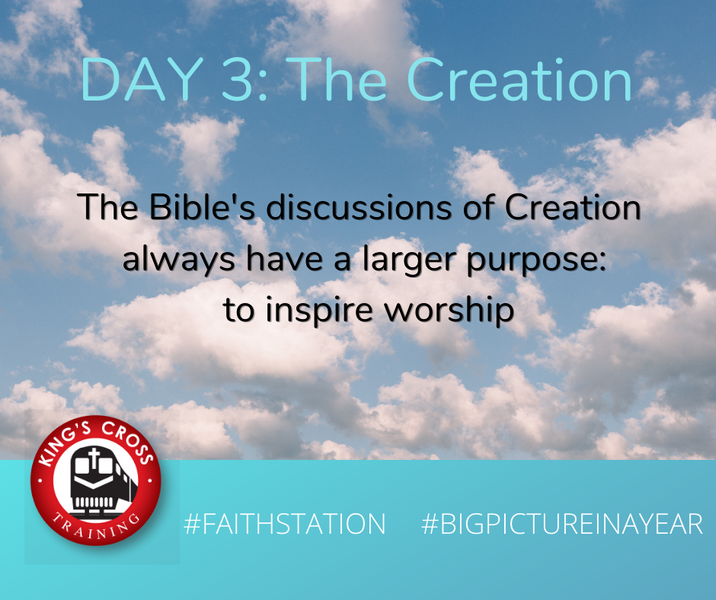 DAY THREE - BIG PICTURE IN A YEAR - THE CREATION