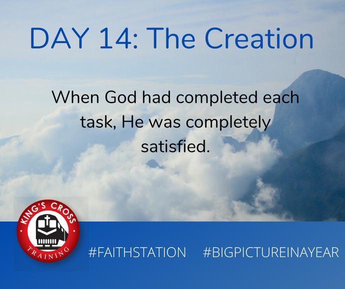 DAY FOURTEEN - BIG PICTURE IN A YEAR - THE CREATION