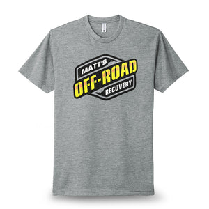Matt Off-Road T-Shirt Light Gray