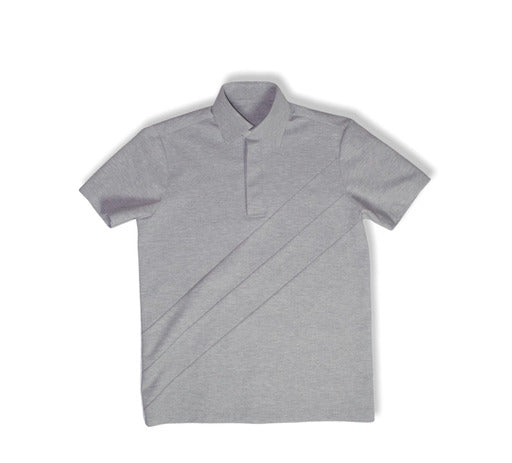 Grey Tonal - Striped Polo