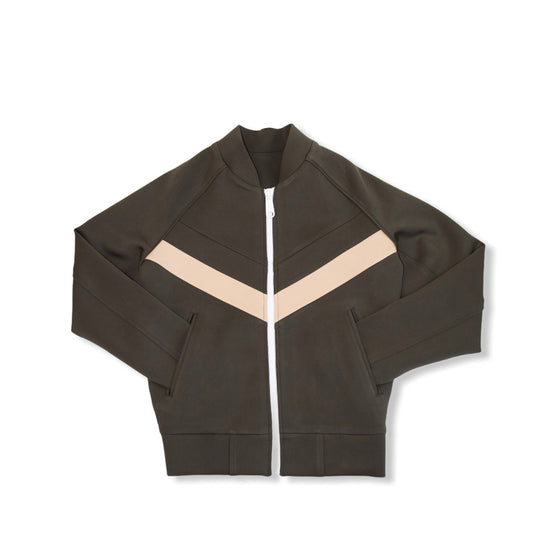Olive / Tan - CHEVRON TrackJacket