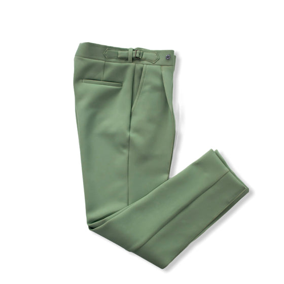 Sage Green - Pleated Trouser