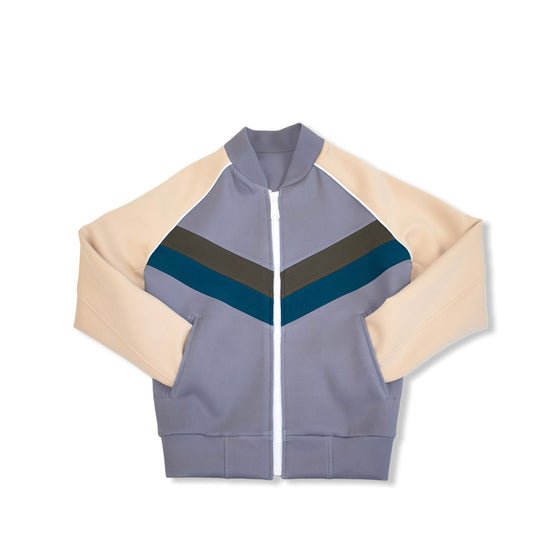 Tan / Sea Blue / Olive - CHEVRON TrackJacket