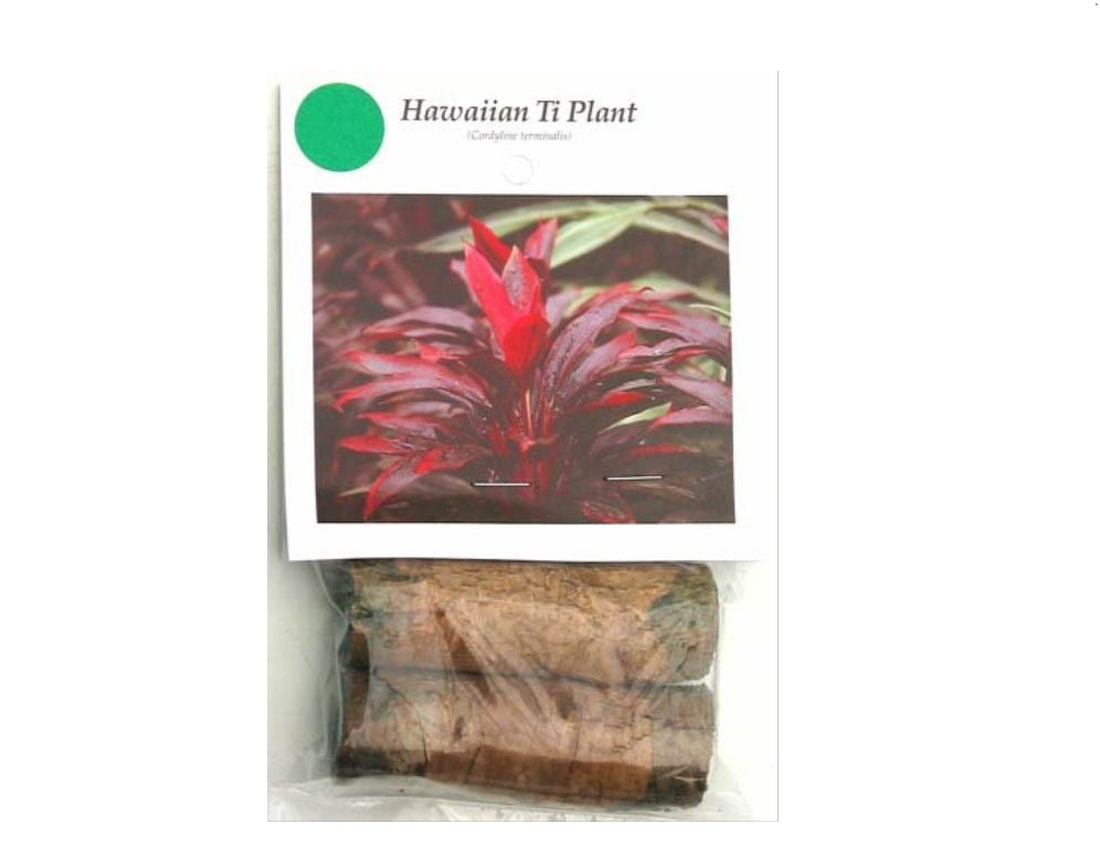 1 RED LOG HAWAIIAN COMBO RED and GREEN TI PLANT LOGS 1 Pack with 1 GREEN LOG