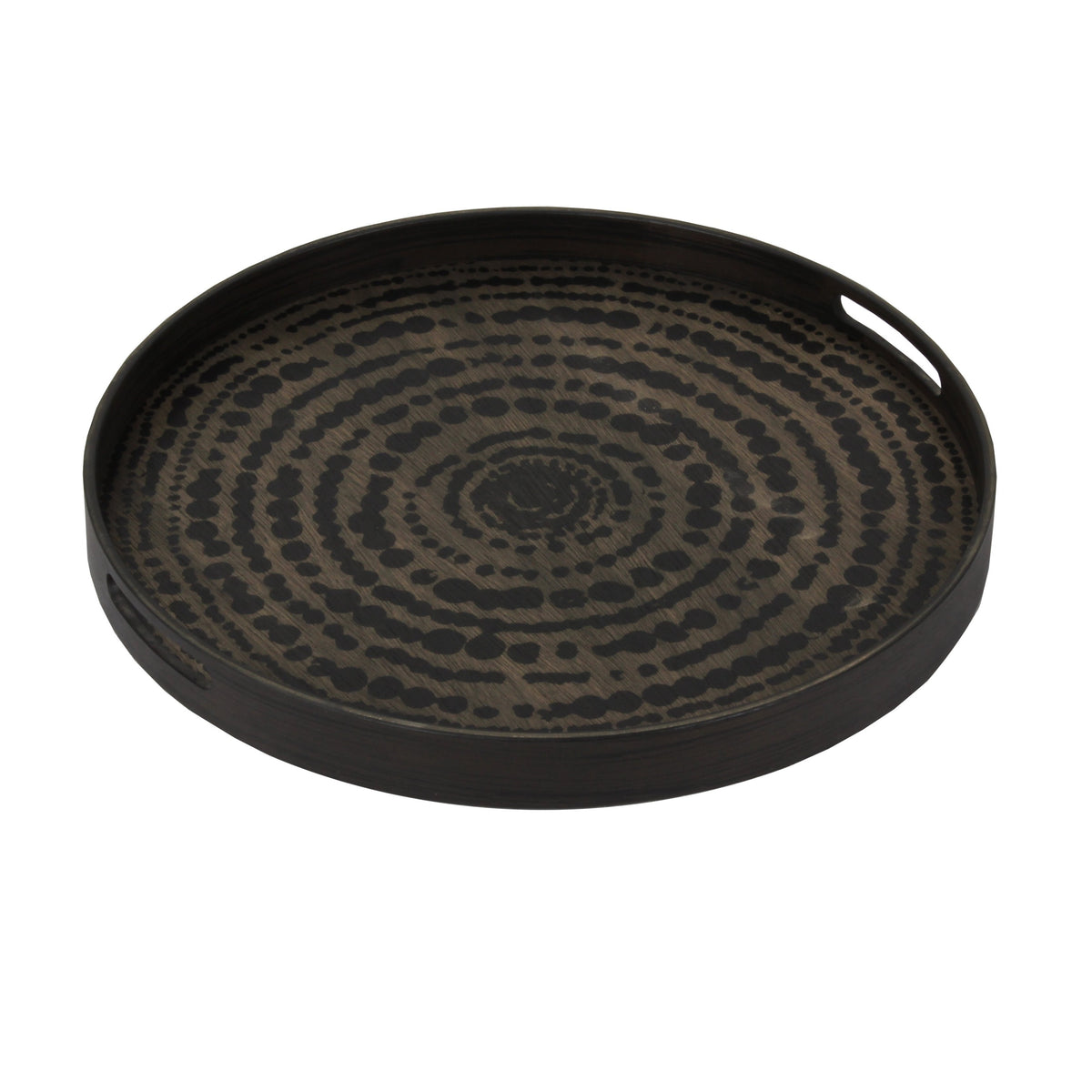 Black Beads driftwood tray RO/S