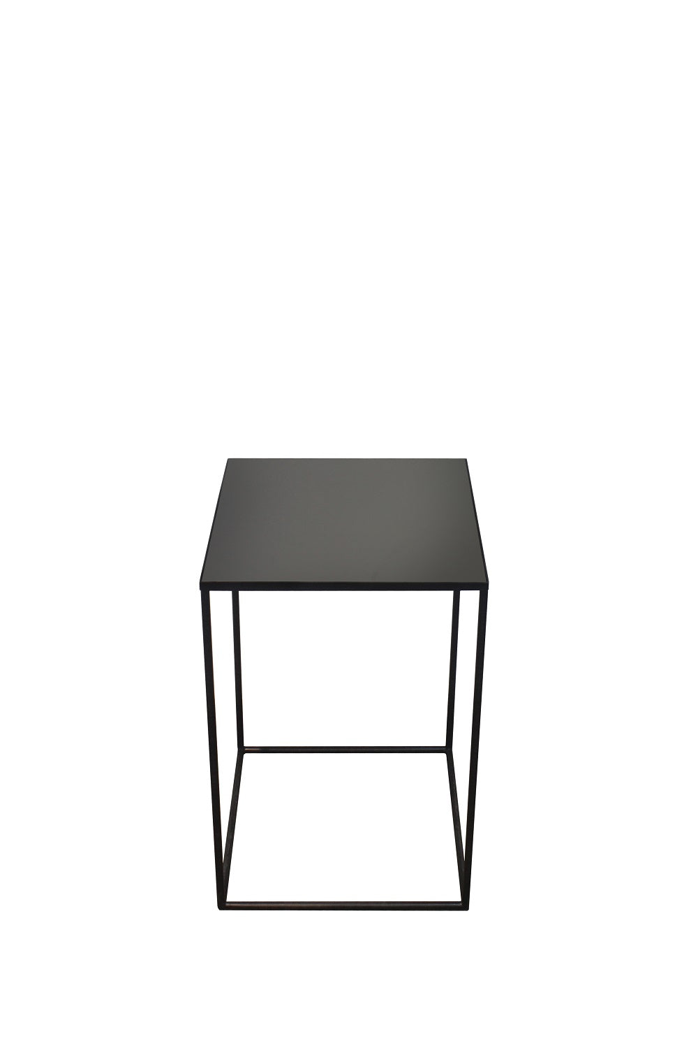 Charcoal Square side table-mid/L 40/40/60