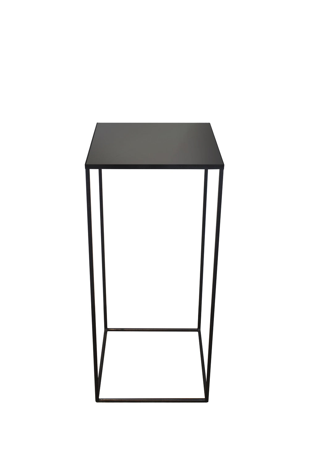 Charcoal Square side table-high/L 40/40/90