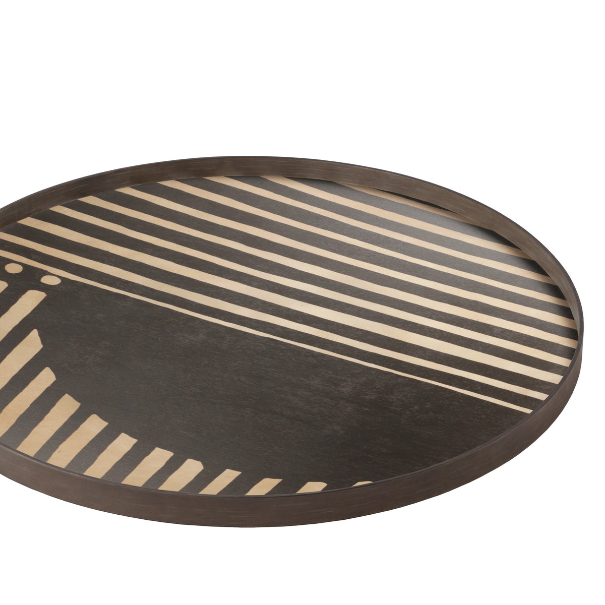 Assymetric Dot driftwood tray-RO/XL