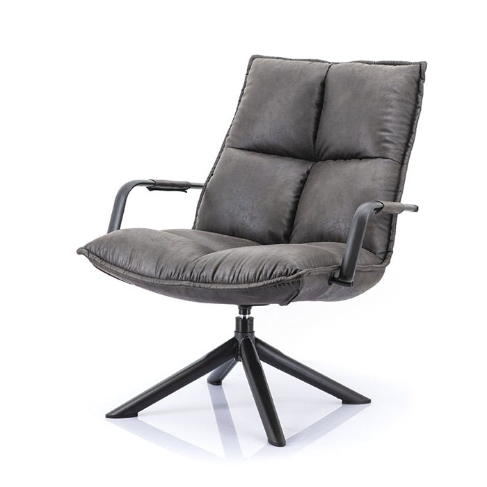 Mitchell lounge chair - antraciet topper