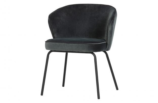 ADMIT DINING CHAIR VELVET STEEL BLUE