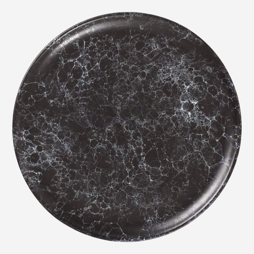 MOON/STONEWARE DINNER PLATE BLACK 28CM