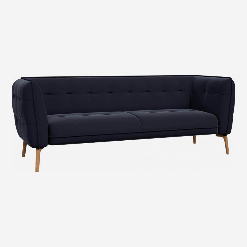 COMO/3 ST VELVET DARK BLUE OAK LEGS